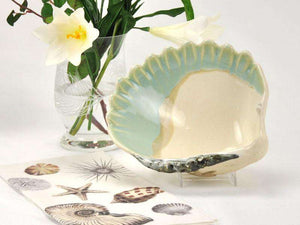 Cockle Shell Bowl - Aqua Entertaining