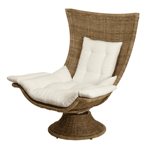 Croatia Woven Rattan Swivel Chair - Large Accent Chair