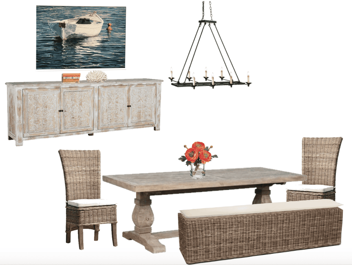 Dining Room Trestle Furniture Package
