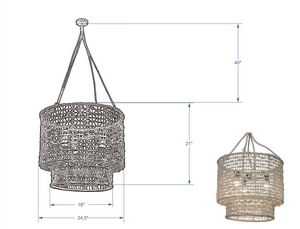 Nadia Natural Double Barrel Rope Chandelier