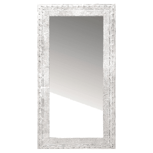Embossed White Antique Tin Mirror - LG Rectangular Mirror