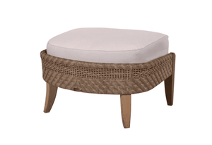 Eastern Shores Woven & Teak Outdoor Ottoman
