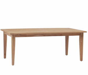 "Cape Cod Natural Teak 77"" Outdoor Dining Farm Table"