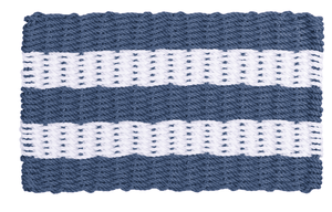 Rope Doormat - Federal Blue & White Shoreline