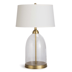 Glass and Brass Dome Lamp Lamp
