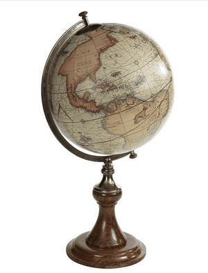 Mercator Globe on Classic Stand Home Office