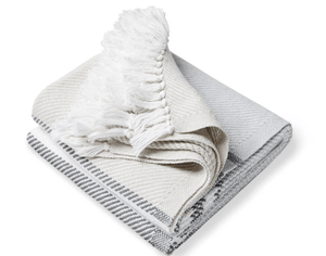 Allgash Cotton Throw (3 colorways) Throw Dove Gray/Slate/Oyster