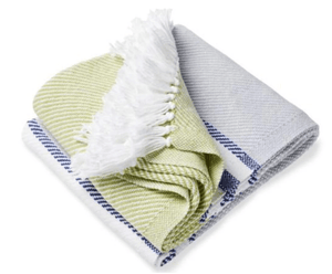 Allgash Cotton Throw (3 colorways) Throw Dove Gray/Navy/Apple Green