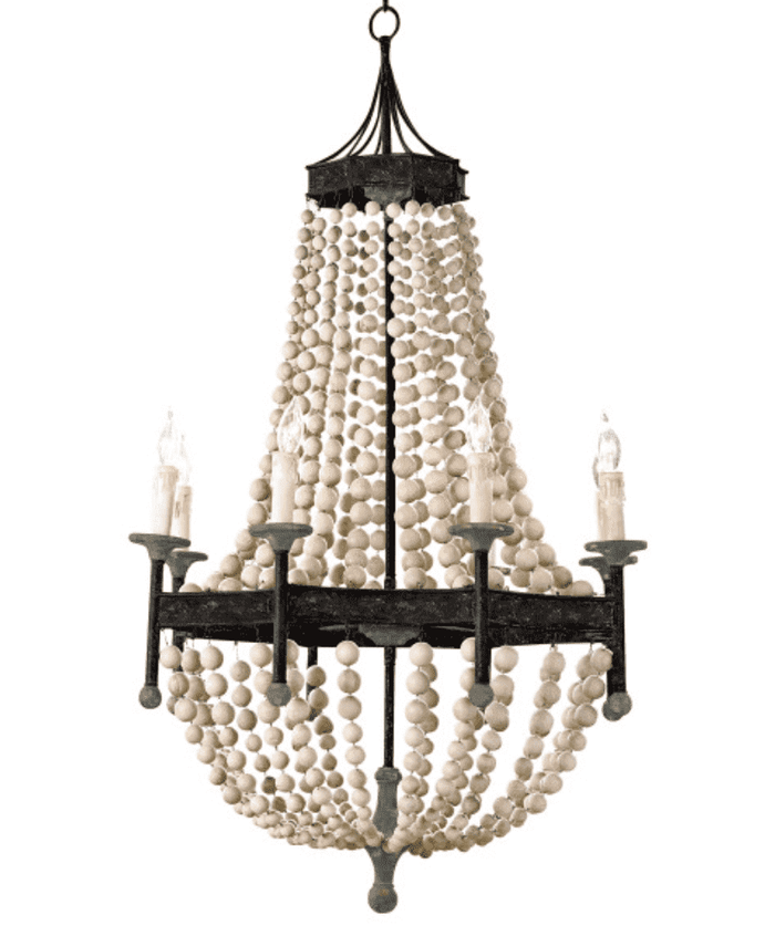 Hampton Bay Scalloped Wood Bead Chandelier