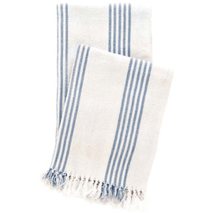 Ibiza French Blue Striped Throw Throw