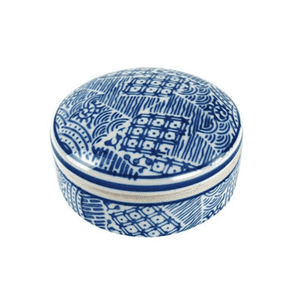 Blue & White Patchwork Box Decor