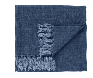 Maui Linen Throw - Indigo Throw