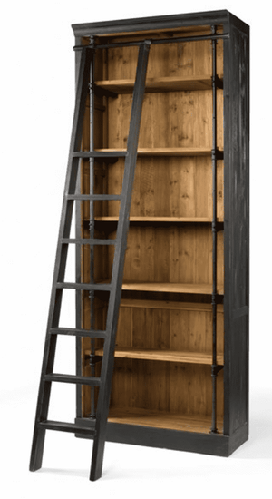 "Inglewood 39"" Bookshelf w/Ladder Shelf"