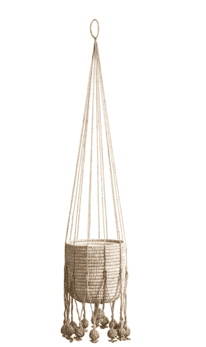 Jade Jute Hanging Basket Planter