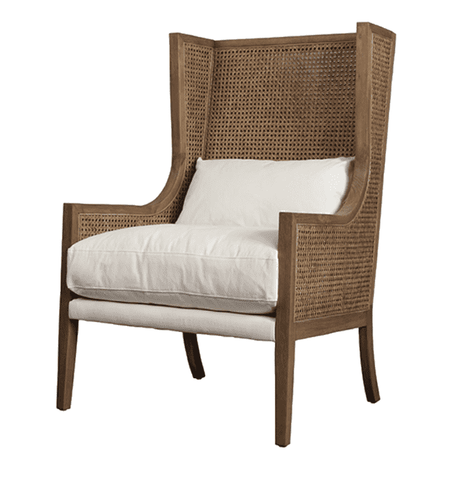 "Jaden Rattan 27"" Accent Chair"