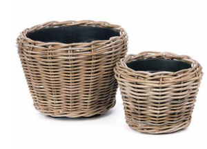 Soleil Kubu Rattan Planter Basket (Available in two sizes)