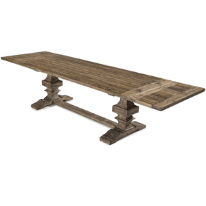 Large Recycled Wood Dining Extension Table Dining Table