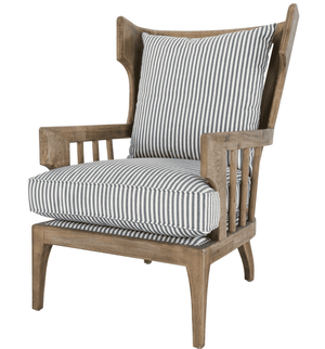 Liberty Striped Accent Chair Accent Chair