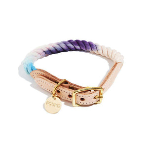 The Lois Ombre Cotton Rope Dog Collar Dog