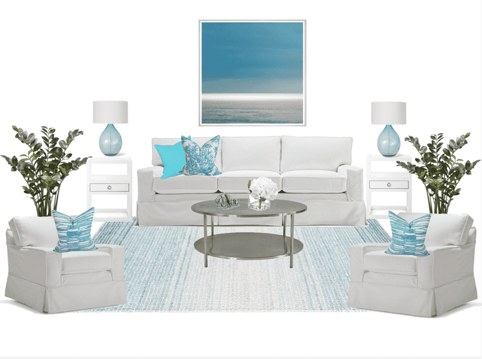 Living Room Furniture Package - Aqua