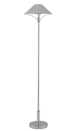 Ludlow Polished Nickel Floor Lamp Floor Lamp