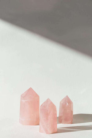 Rose Quartz Crystal Set