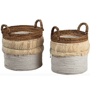 Malang Segrass & Banana Stalk Baskets - Set of Two