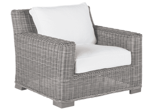 Malibu Outdoor Weathered Wicker Lounge Chair