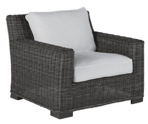 Malibu Outdoor Weathered Wicker Lounge Chair Outdoor Furniture