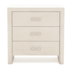"Malibu 24"" Three-Drawer Bedside Table Nightstand"