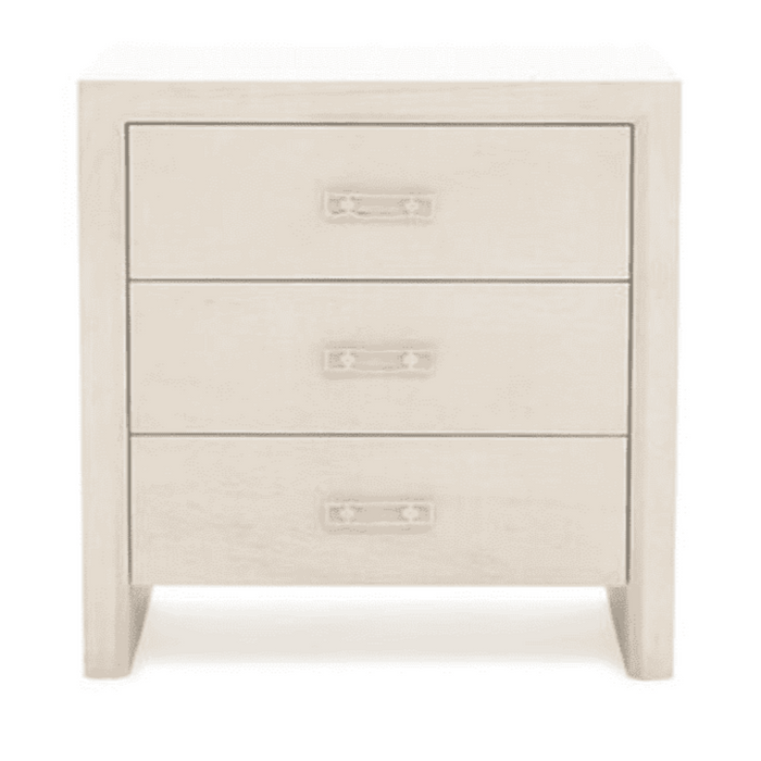 "Malibu 24"" Three-Drawer Bedside Table"