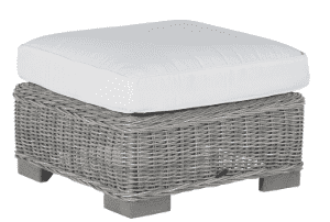 Malibu Outdoor Weathered Wicker Outdoor Ottoman Outdoor Furniture