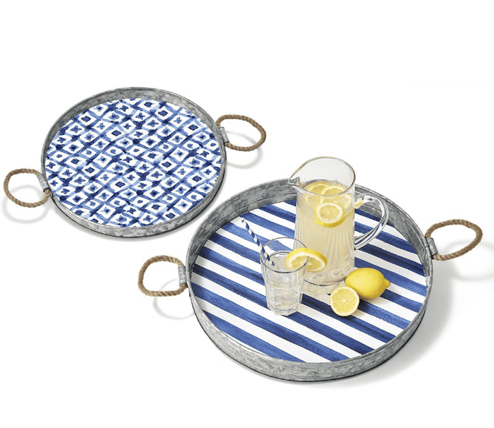 Mashpee Patterned Serving Tray Set