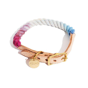 Mood Ring Ombre Cotton Rope Dog Collar Dog