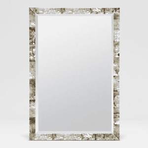 Large Mother of Pearl Shell Mirror Mirror