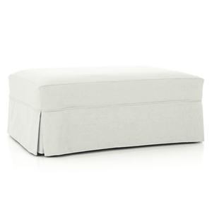 "Nantucket II 37"" Slipcovered Storage Ottoman Slipcovered Ottoman"
