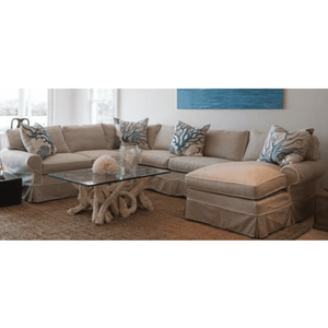 "Nantucket II 103"" x 133"" Slipcovered Sectional -1"