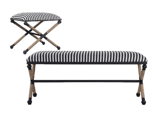 Naxos Iron & Rope Striped Bench - 2 Sizes Bench