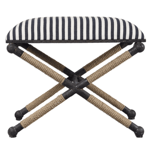 Naxos Iron & Rope Striped Bench - Small