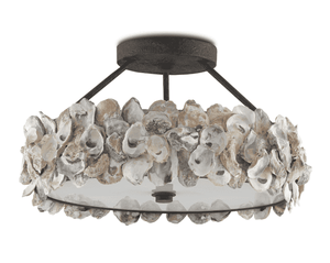 Oyster Shell Semi-Flush Pendant Semi-Flush Pendant