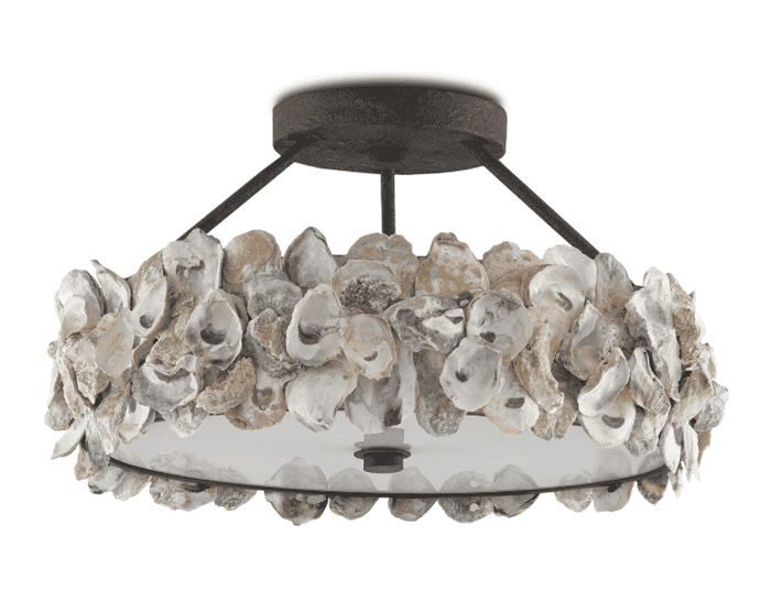 Oyster Shell Semi-Flush Pendant
