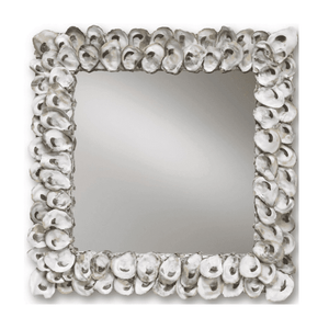 "Oyster Shell 20"" Square Mirror Mirror"