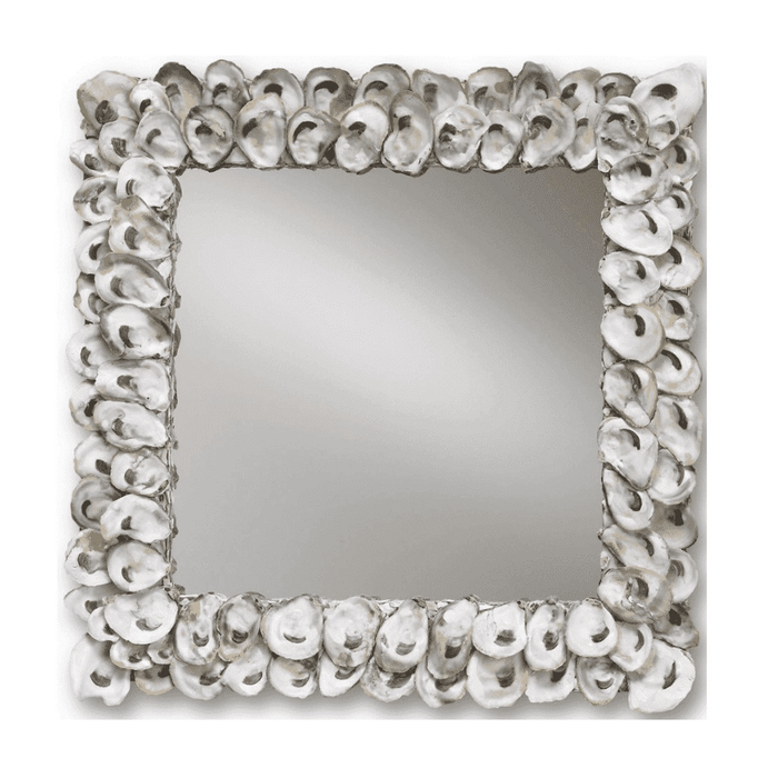 "Oyster Shell 20"" Square Mirror"