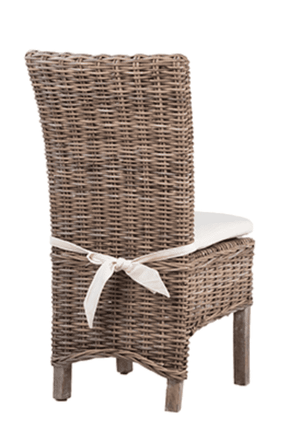 "Pine Island 21"" Kubu Rattan Dining Chair Dining Chair"