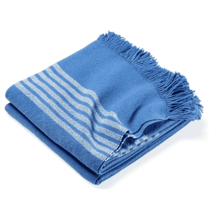 Pembroke Cotton Throw - Baja Blue Throw Baja Blue