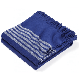 Pembroke Cotton Throw - Navy Throw Navy Blue