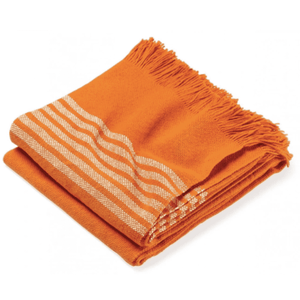 Pembroke Cotton Throw - Autumn Orange Throw Autumn Orange
