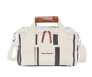 The Premium Cooler Bag - Vintage Black Stripe Beach