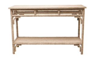 "Portofino 48"" Abaca Rope Console Table Console"