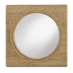 Portofino Abaca Rope Porthole-Style Mirror (Available in Two Sizes) Mirror